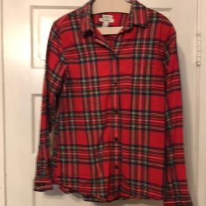 LL Bean Relaxed Fit Plaid Flannel